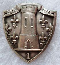 Insigne de BERET 1° CUIR REGIMENT DE CUIRASSIERS AFN GUERRE D'ALGERIE ORIGINAL