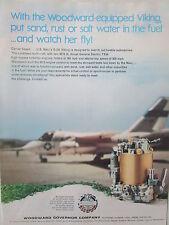 7/1973 WOODWARD GOVERNOR US NAVY LOCKHEED S-3A VIKING FUEL CONTROL ORIGINAL AD