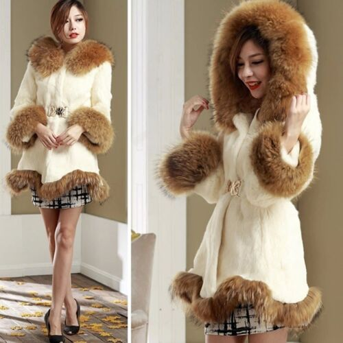 Parkas Fur Soft Overcoat Jacket Ourwear Hooded Coat Fashion Beklædning Faux Womens w0I474