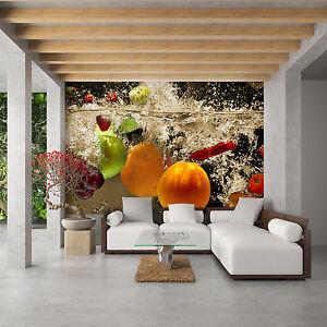 moderne Tapete Vlies Fototapete für die Küche erfrischendes Obst ...