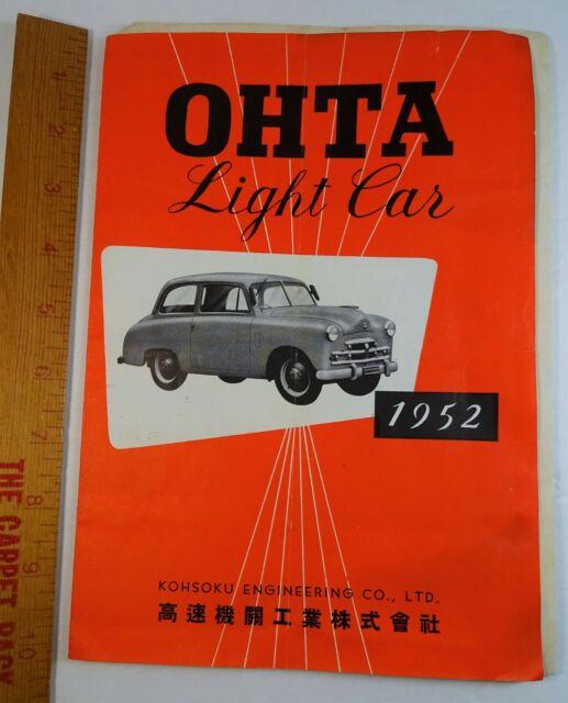 RARE ORIG Brochure publicitaire catalogue-Ohta Lumière Voiture Camion 1952 KOHSOKU Japon