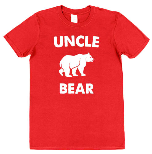Uncle Bear Cotton T-Shirt Niece Nephew Gift Present Daddy Family Brother