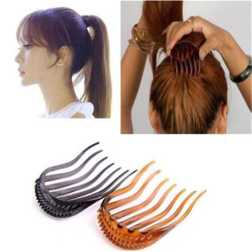 Details about  /Inserts Hair Clip Bun Wedding Hair Comb Women Fluffy Pony Tail Styling Tools W