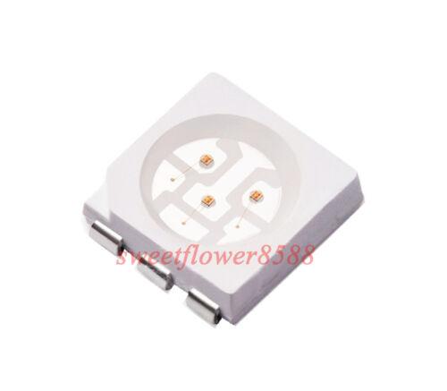 100ps 5050 Red SMD LED  PLCC6 LEDs 3-CHIPS Light SMD LEDs SMT Super-Bright New