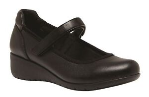 WOMENS-HUSH-PUPPIES-ADULTS-DURAN-BLACK-WALKING-LEATHER-SHOES
