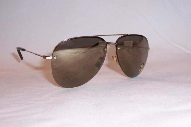 caebbec477 Saint Laurent Classic 11 M Sunglasses 004 Gold   Bronze Mirror Lens ...