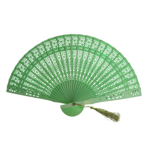 Wedding Hand Fragrant Party Carved Bamboo Folding Fan Chinese Wooden Fan CPE