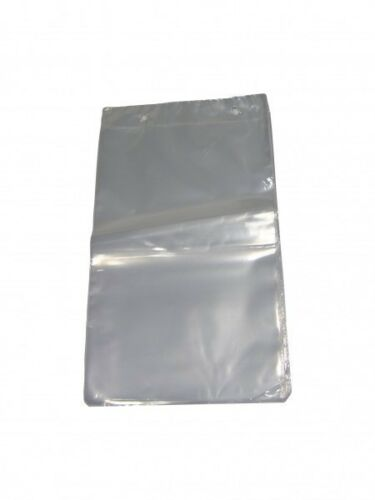 1000 Poly Abrissbeutel unbedruckt transparent geblockt 13mµ 300x460+30mm