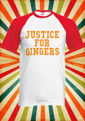 Justice For Ginger Funny Cool Men Women Long Short Sleeve Baseball T Shirt 1689