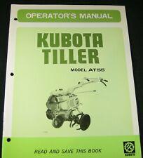 Kubota Tiller Model At55 Operators Maintenance Manual Book Catalog List Oem