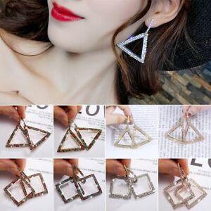 Charm-Women-Full-Crystal-Rhinestone-Earrings-Geometric-Ear-Drop-Dangle-Jewelry