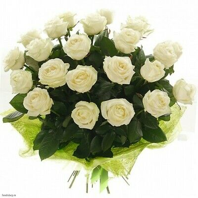 Fresh Flowers White Roses Beautiful Bouquet Birthday Present Or Love You Gift Ebay