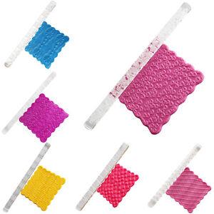 Happy Birthday Texture Embossing Acrylic Rolling Pin Sugarcraft Fondant 2