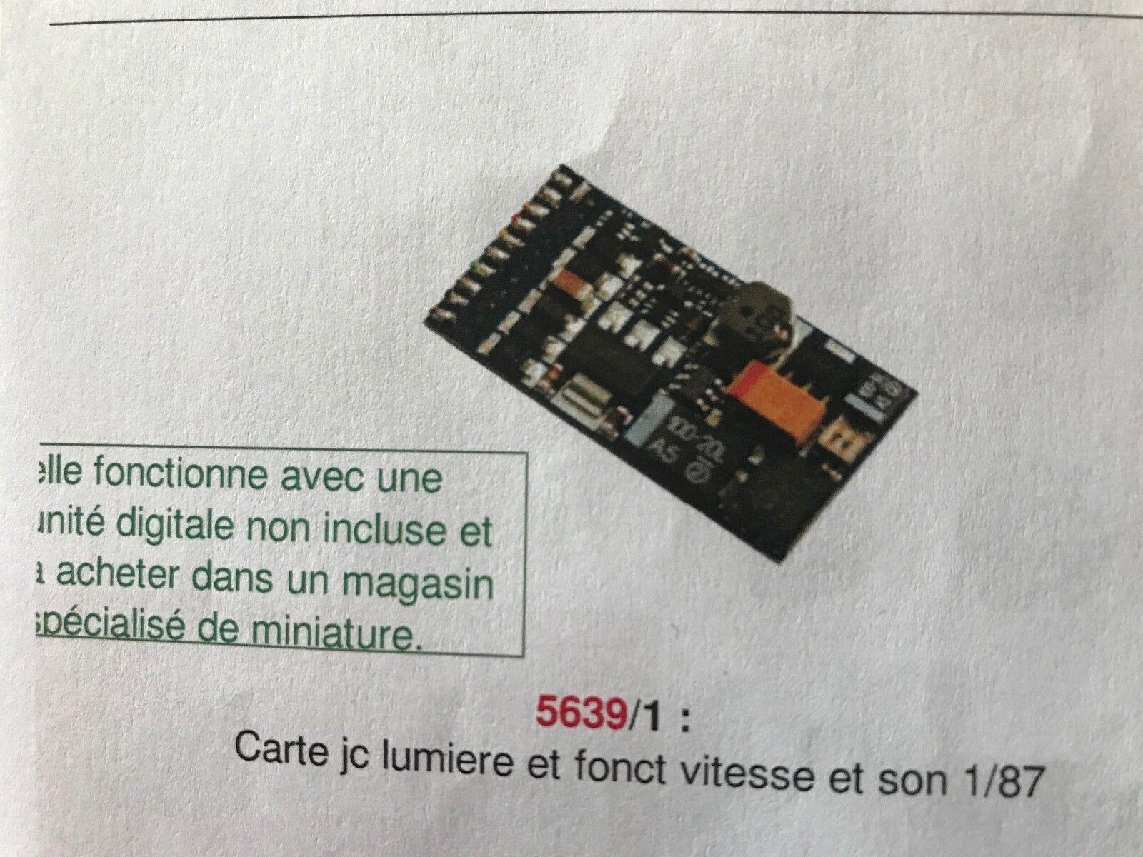 CARTE ELECTRONIQUE LUMIERE/SON/VITESSE  POUR TELECABINE JC COLLECTION 1/87 5639