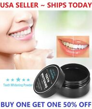 100% ORGANIC COCONUT ACTIVATED CHARCOAL NATURAL TEETH WHITENING POWDER USA VALUE