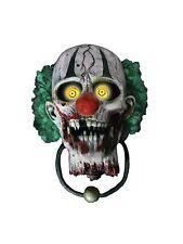 Bonkers the Clown Door Knocker Halloween Animated Decoration Prop Animatronic