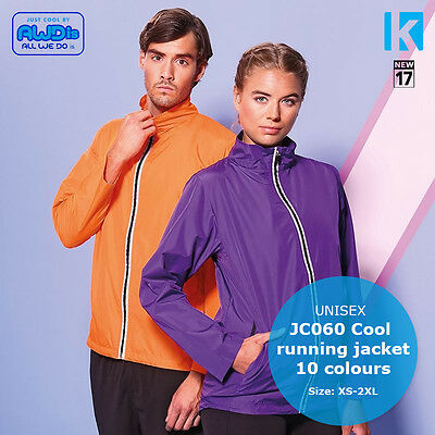 AWDis JC060 Jacket Cool Top Wickable Breathable Running Training Windproof NEW
