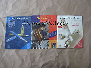 Vintage-Lot-of-3-B-Collins-Pen-Catalogs