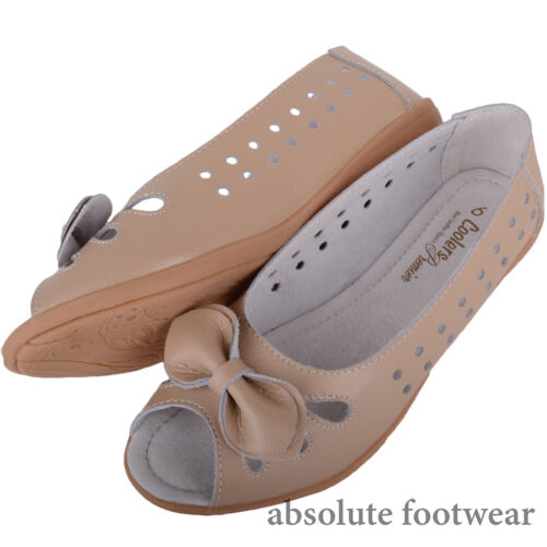 Womens Casual Open Toe Leather Summer Holiday Sandals Ladies Shoes