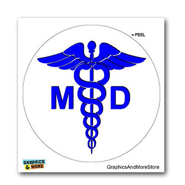 Doctor MD Caduceus Medical Symbol - Window Bumper Locker Sticker