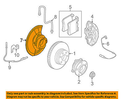 FORD OEM Disc Brake-Front-Backing Plate Dust Splash Shield Right F4TZ2K004B