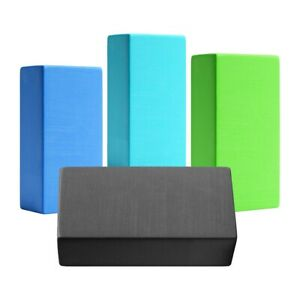 2 x Lightweight Exercise Fitness & Stretching Yoga Foam Brick Block with Rounded Edges 2 x Black Sports & Outdoors