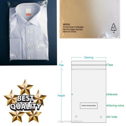 1000x Vêtement T-shirts d/'emballage polypropylène des sacs en textile//Habillement