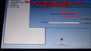 Details about DELL Bios Unlock / Removal Type 595B / D35B / 2A7B / 1D3B /  1F66 /6FF1