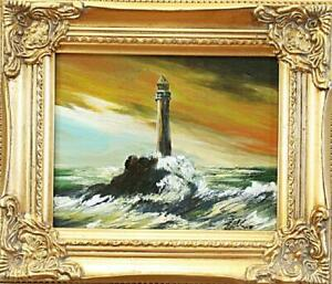 Painting-Oil-Picture-Frame-Sea-Ships-01945
