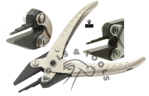Flat /& Stepped Round Nose Parallel Action Pliers Bending Forming Jewelry Crafts