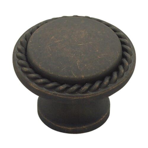 "Liberty PN0293-OB 1 1//8/"" Rope Edge Distressed Bronze Cabinet /& Drawer Knob"