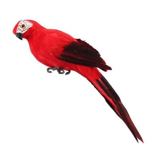 25CM Fake Parrot Artificial Birds Model Outdoor Home Garden Lawn Tree Decoration