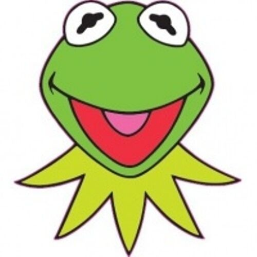 Kermit The Frog Iron On Transfer for LIGHT Colored Fabric 5x5/""
