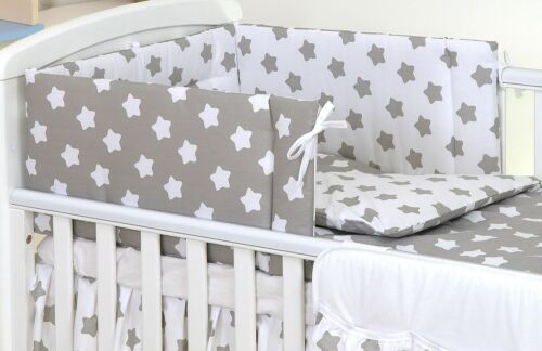 Bumper 5-10 Pcs Baby Nursery Bedding Set fit Cot 120x60 or Cot Bed 140x70cm