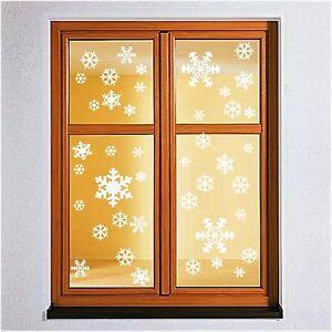 42x-Schneeflocke-Wandtattoo-Winter-Weihnachten-Fenstertattoo-Sticker-Deko