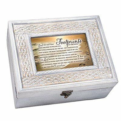 Cottage Garden Nana The Love I Have for You Natural Taupe Wood Locket Music Box Plays Amazing Grace
