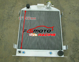 3-core-aluminum-radiator-for-FORD-1932-Hi-Boy-Chevy-engine-hotrod-AT-MT