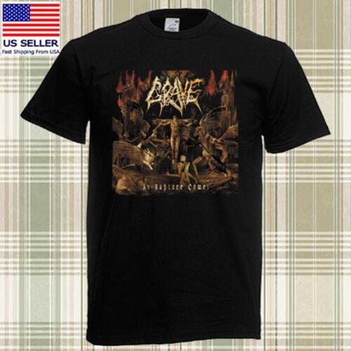 3XL GRAVE As Rapture Comes Death Metal Band Album Men/'s Black T-shirt Size S