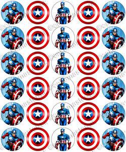 Captain America Cake Topper