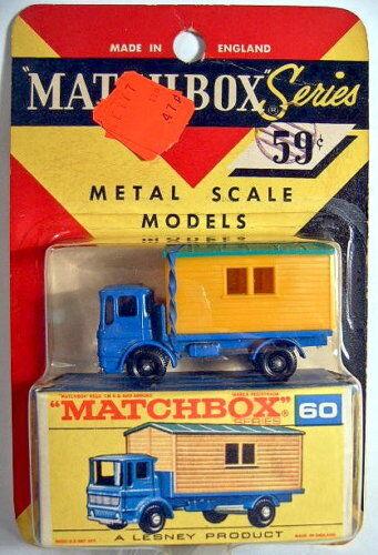 MATCHBOX rw 60b site château camion rare us-plaquette thermoformée