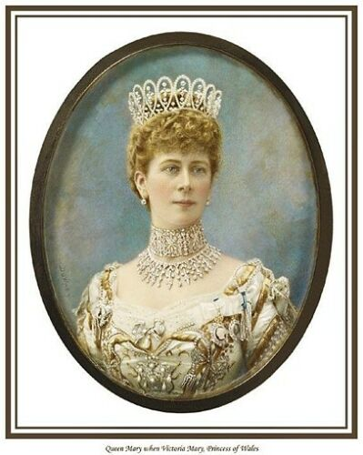 BRITISH MONARCHY QUEEN MARY CONSORT OF KING GEORGE V PRINT