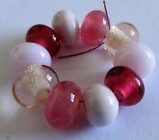 Espaciador Granos de Cristal de Murano 10 tonos de color rosa Sra