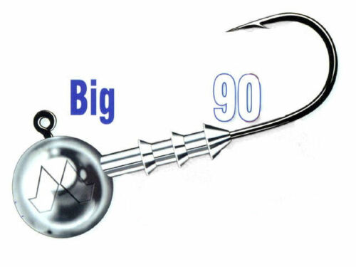 per pack 3pcs size #8//0 Mustad Big Game 90 jig heads 10-100g