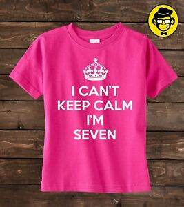 Image Is Loading Seven Birthday Shirt I Can 039 T Keep