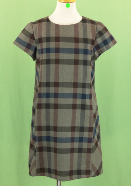 61f3d6915 522 Zara girl Gray dress holiday Plaid short sleeve EUC Size 11-12 ...