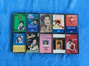 PATSY CLINE 10 Cassette Tape Lot Country Faded Love Greatest Hits Heartaches