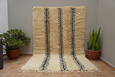 High Quality Beni Ourain Berber Handmade Rug Organic Wool Authentic Moroccan