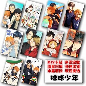Japan-Anime-Haikyuu-10-pc-set-collection-Card-Paster-IC-Card-Sticker-Cred
