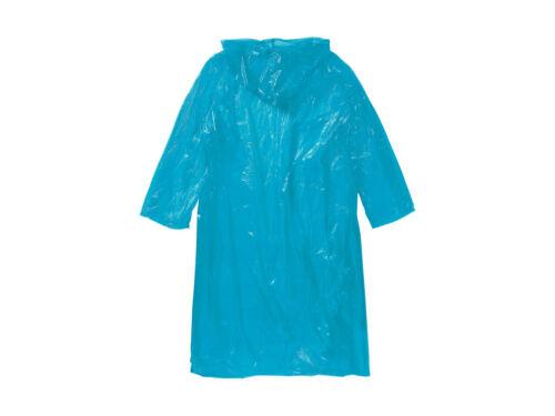 2 XReusable Plastic Adult Waterproof Poncho Camping Festival Rain Coat with hood