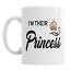 Rey Reina Príncipe Princesa Conjunto de 4 tazas de café de cerámica 11oz